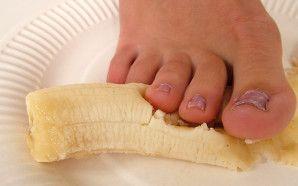 Eine gecrushte Banane von Jenny's Fuß